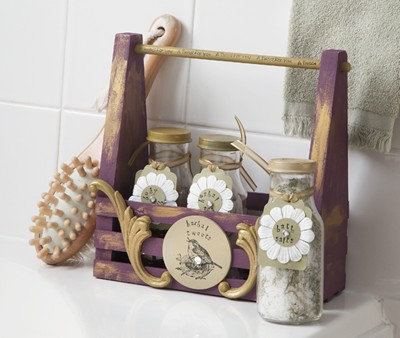 & All natural Spa Gift basket Herbal Tweets - 365 Days of Crafts
