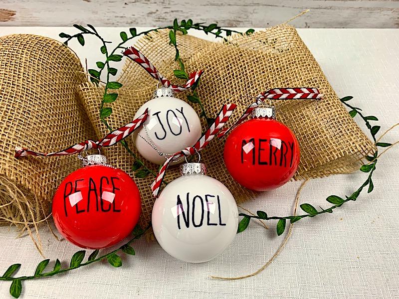Dollar Tree Christmas Crafts.Farmhouse Ornaments A Diy Dollar Tree Craft Idea 365 Days